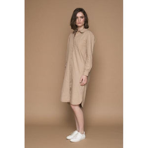 Basic Apparel - Lea dress natural - Dame skjorte kjole - Knokleriet