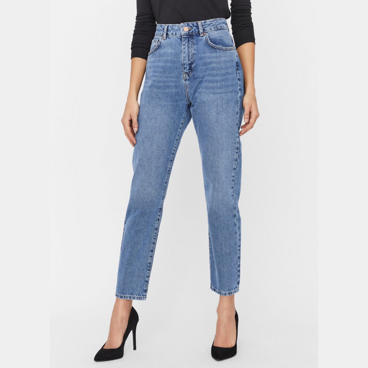 Isabel HW Ankl Mom JNS - Dame Jeans - Medium Blue Denim