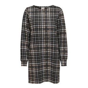Calle L/S Dress JRs - Dame Kjole - Black/Silver MIN