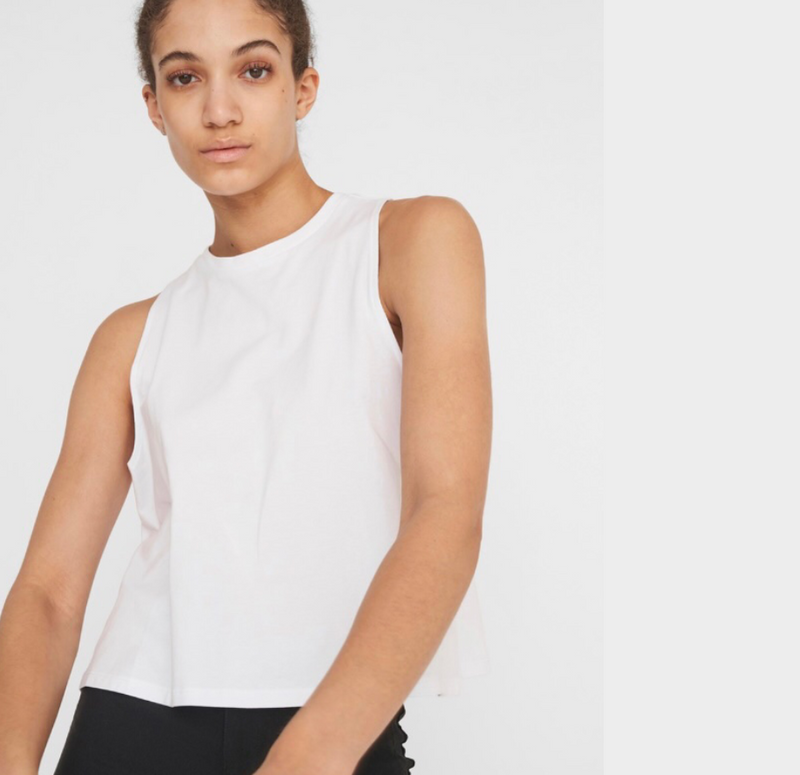 Hailey - Dame Top - Bright White