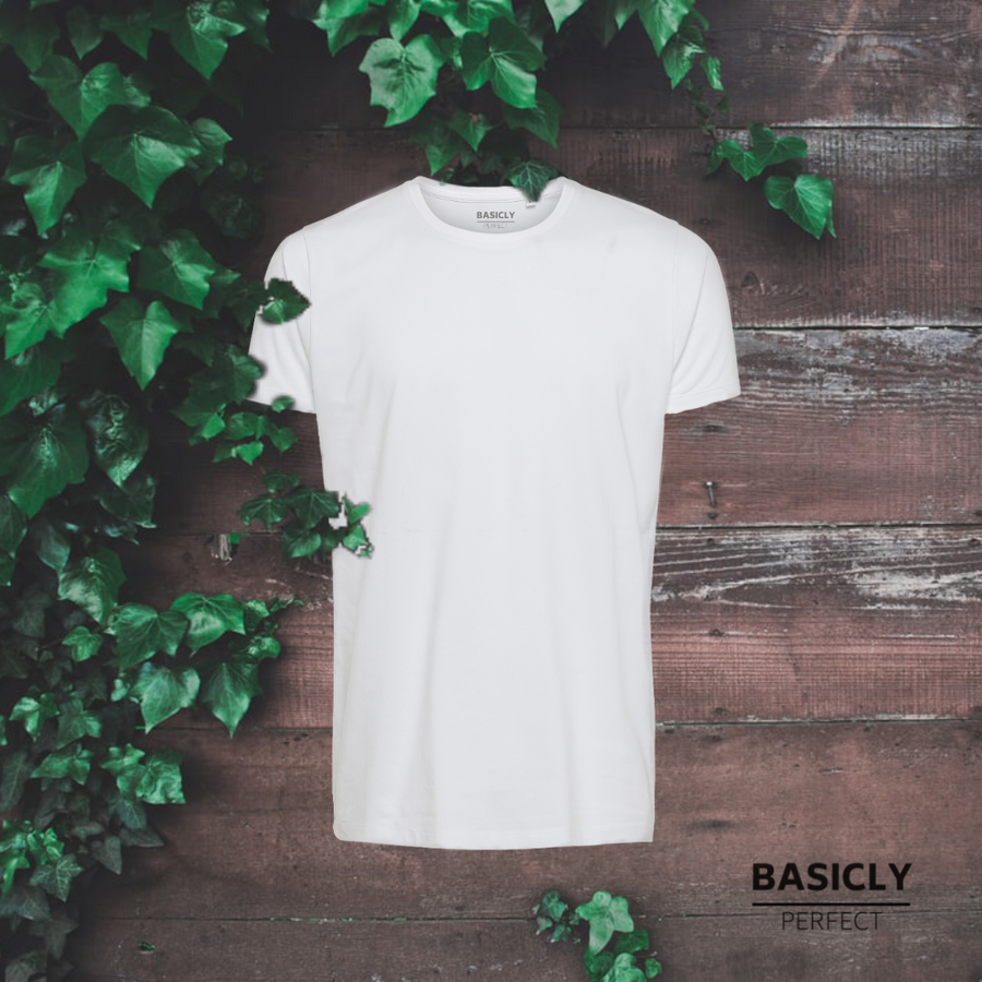 BASICLY PERFECT - HERRE T-SHIRT - 3 STK HVID - Knokleriet