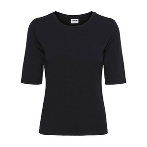 Line Sleeve Top - Dame T-shirt - Black