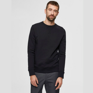 Jason Crew Neck - Herre sweatshirt - Black