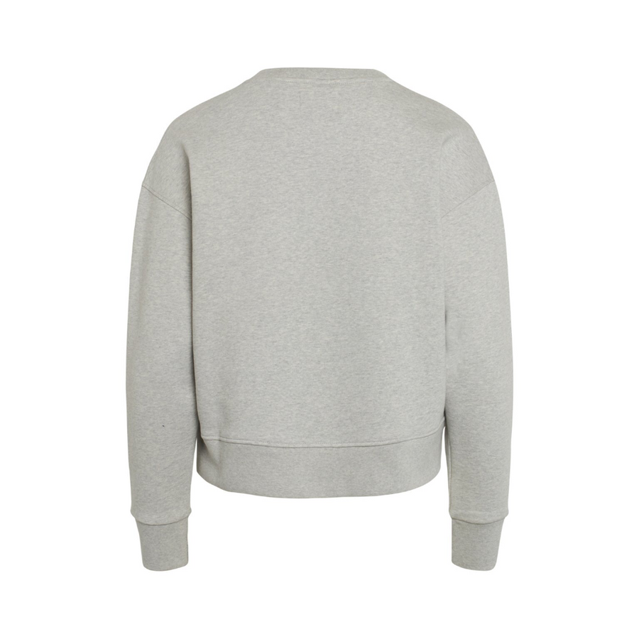 Organic Sweat Tilvina P - Dame Sweatshirt - Light Grey Melange