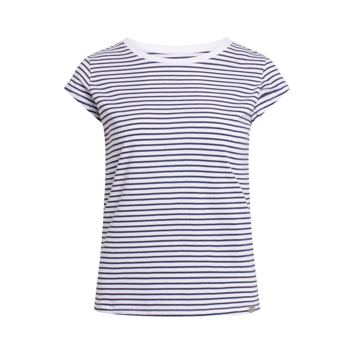 Organic Favorite Stripe Teasy - Dame T-shirt - White/Navy