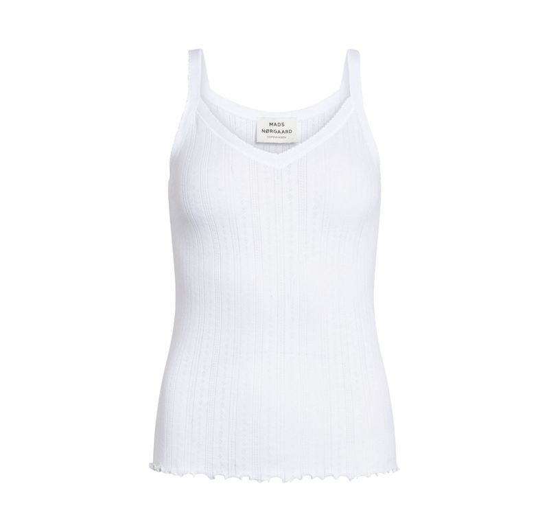 Pointella Trille -Dame Top -  White