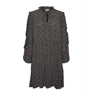 Mare Oversize Dress - Dame Kjole - Black/Grey Tones