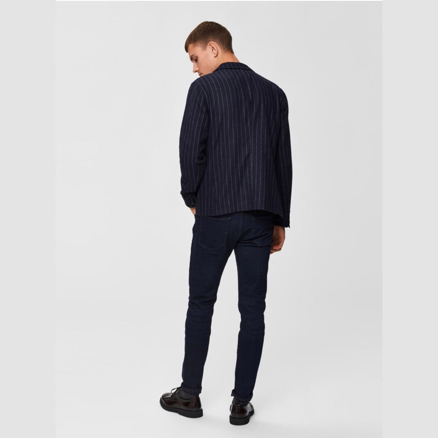 Selected - Slim Leon  blue black denim- Herre Jeans - Knokleriet
