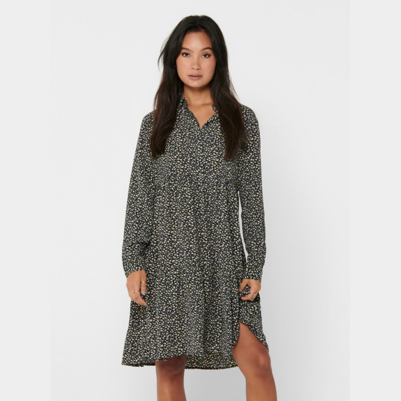 Piper Dress - Dark Navy/DITSY FLOW
