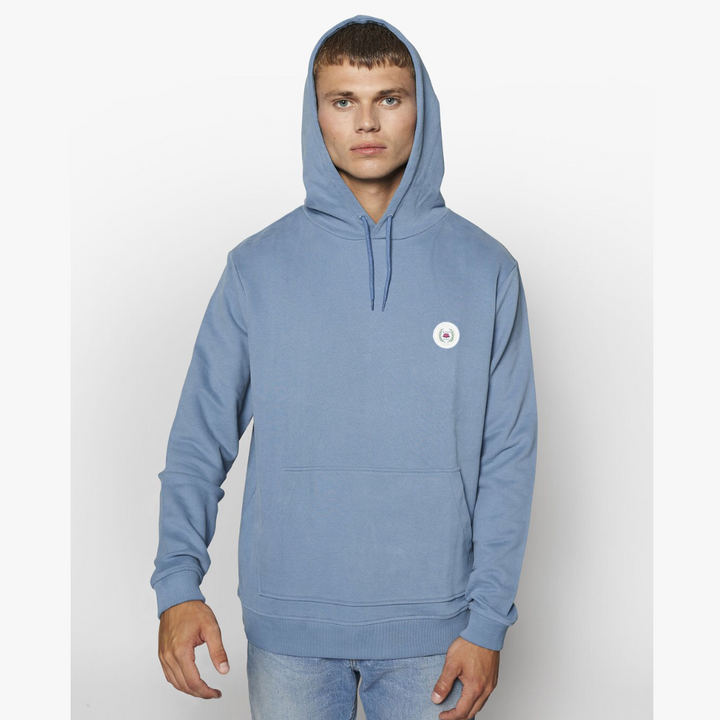 Our Shaxy Patch Hood - Herre Hættetrøje - Dusty Blue