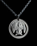 United States - Fruit Bat Cut Coin Pendant