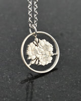 Japan - Cherry Blossom Cut Coin Pendant