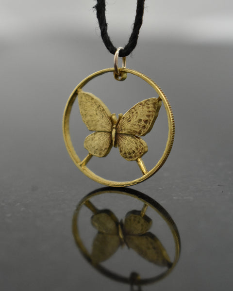 Philippines - Butterfly Cut Coin Pendant