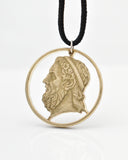 Greece - Homer Cut Coin Pendant