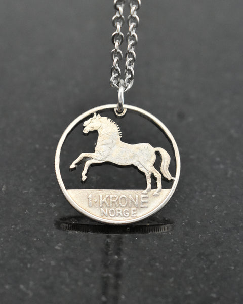 Norway - Horse Cut Coin Pendant