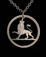 United Kingdom - Cut Coin Pendant with Lion