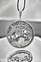 Bahamas - Flamingoes Cut Coin Pendant