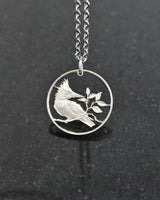 British Virgin Islands - Kingfisher Cut Coin Pendant