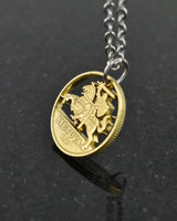 Lithuania - Cut Coin Pendant with Knight
