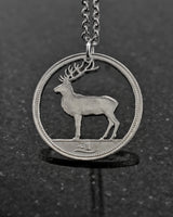 Ireland - Red Deer Cut Coin Pendant