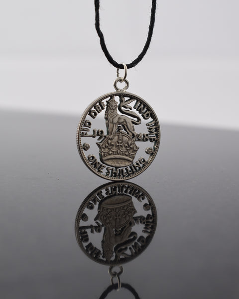 Great Britain Lion on Crown Cut Coin Pendant