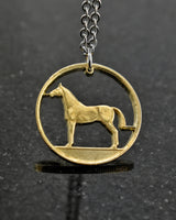 Ireland - Horse Cut Coin Pendant