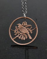 New Zealand - Tui Bird Cut Coin Pendant