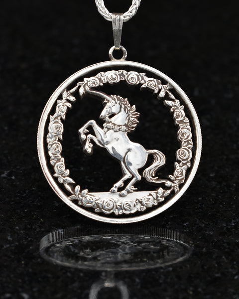 China - Unicorn Cut Coin Pendant