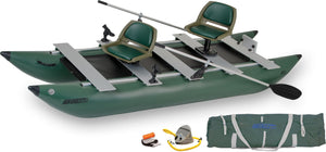 inflatable pontoon boat with accessories