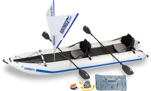 Inflatable kayak with kayak sail for sale online at Aquatech