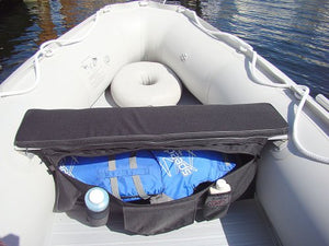 Boat Seat Cushion With Under Seat Storage Bag.