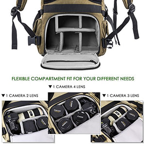 Waterproof Camera Backpack or Canvas Camera Bag