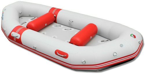Raft with inflatable round tube seats