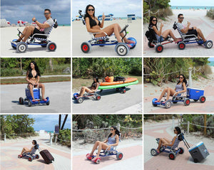 Hoverseat many uses nine hoverseats pulling coolers and other boating and beach gear