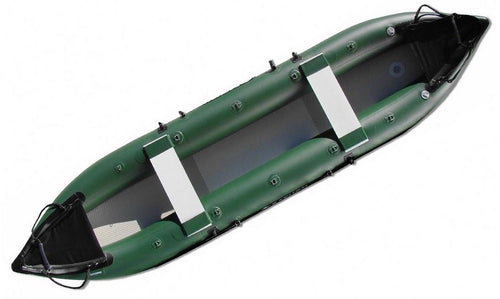 inflatable kayaks as seen from above.
