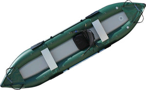 Ocean fishing kayak top view