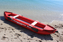 2 person inflatable kayak on beach