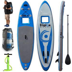 The Vision Board™ – 10ft Inflatable Paddleboard (SUP) Package with Underwater Viewing Window