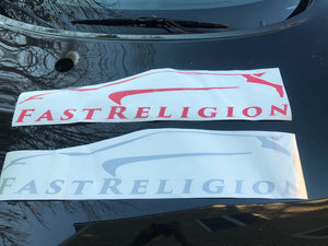 FastReligion Windshield Banner (Logo)