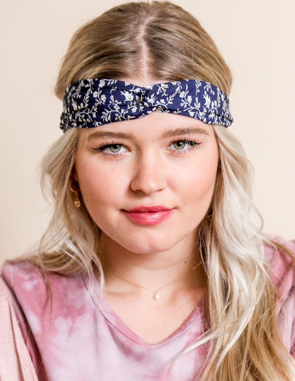 Floral Trailing Vine Twist Headwrap (2 Colors)