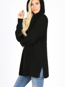 Hooded Popcorn Sweater (S-XL)