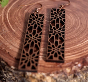 3D Grace Wooden Earrings