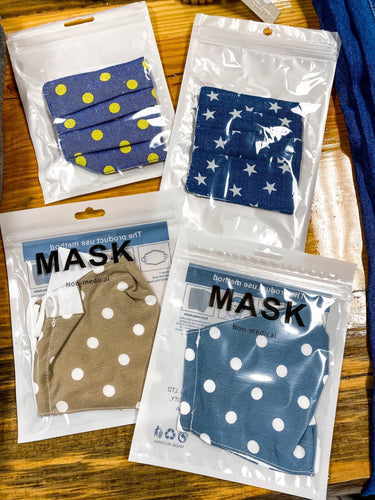Mask with Filter Pocket (4 Patterns)