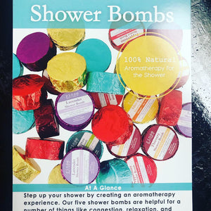 Shower Bombs-Aromatherapy for the Shower/BATH (6 Scents)