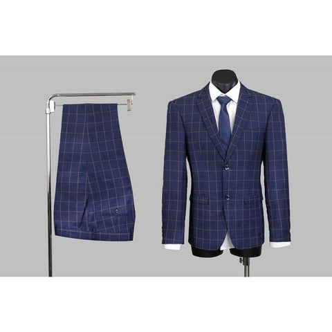 Scuzzatti 2241 Wool Blend Plaid Suit