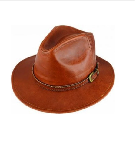 Dot & Co 21703 Leather Fedora Hat