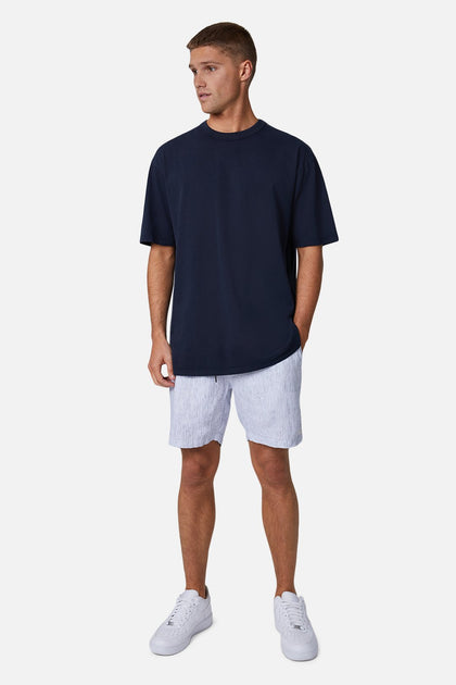 INDUSTRIE The Cristo Short - WHITE NAVY