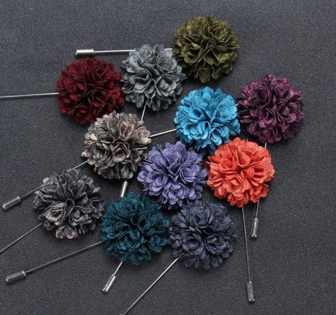E-Male Lapel Pins FLOWERS