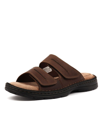 HUSH PUPPIES Slider Brown Leather