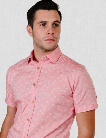James Harper Liverpool Triangle Print SS Shirt